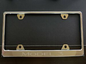 Tesla Model 3 License Plate Frame OEM Chrome Never Used