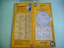 CARTE MICHELIN 56 PARIS REIMS 1965 MAPS KARTE CARTOLINA