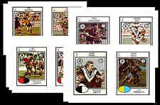 NRL RUGBY LEAGUE (1975) - GUM CARD/ POSTCARD SET # 1