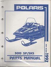 1992 POLARIS SNOWMOBILE 500 SP/SKS P/N 9912126 PARTS MANUAL (726)