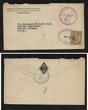 Nicaragua official stamp on cover to Us 1929 Mm1114