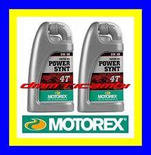 2 Litri Olio Motore 4 tempi MOTOREX Power Synt 4T 10W60 100% Sintetico