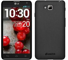 Amzer Exclusive Pudding Matte TPU Case Cover For LG Optimus L9 II D605 - Black