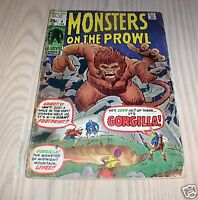 1971 MARVEL MONSTERS ON THE PROWL #9 COMIC POOR $45
