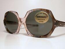 "NOS Vintage Sunglasses A/O American Optical SUNVOGUES ""HEX-O"" True Color CN150T"