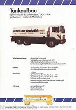 3002ROH Rohr Tankaufbau Prospekt LKW 1992 Nutzfahrzeug brochure truck prospectus