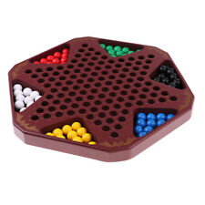 Wooden Chinese Checkers Game Travel Board Game Set for Adults and Kids