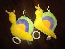 1 Piece Paradise Toys Snail Music Box Blue Yellow Green Pastel Sensor Cuddly Toy