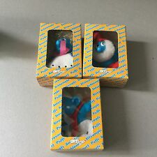 VINTAGE 3x   PUFFI SMURF STROUMPFS#NIB MADE IN ITALY CAVICCHI