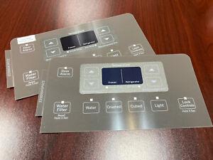 GE Refrigerator Dispenser Overlay only for WR55X20464, Genuine OEM, 2 sets New