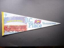 1983 B.C PLACE STADIUM FOOTBALL SOCCER PENNANT FLAG BC LIONS VANCOUVER WHITECAPS