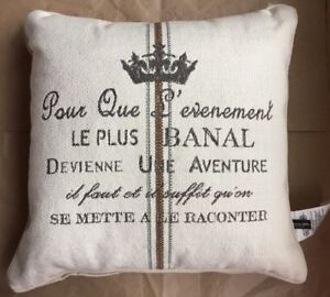 """AMERICAN MILLS French Province PILLOW Size: 22 x 22"""" New SHIP FREE Green / Brown"""