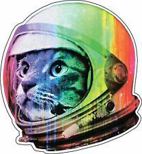 Astronaut Cat Alien UFO Extraterrestrial Space Psychedelic Vinyl Sticker / Decal