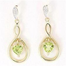 Natural Peridot Fine Earrings