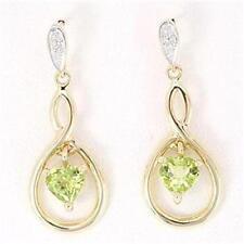 Gold Peridot Fine Earrings