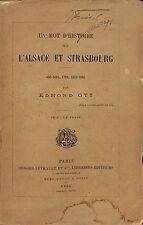 EDMOND OTT ALSACE & STRASBOURG HISTOIRE FRISCH BROCHURE 1884