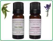 OLIO ESSENZIALE DI TEA TREE E LAVANDA - PURO 100% - 10 ml x 2