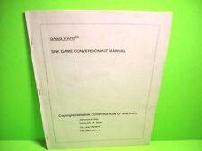 SNK GANG WARS Original 1989 Video Arcade Game Conversion Kit Service Manual