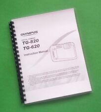 LASER Printed Olympus TG-620 TG-820 Camera 83 Page Owners Manual Guide