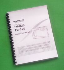 LASER Printed Olympus TG-620 TG-820 Camera Manual Guide 83 Pages
