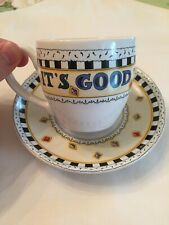 Mary Engelbreit 'It's Good to be Queen' Teacup and Saucer