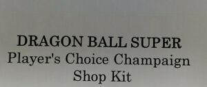 Dragon Ball Super Card Game Player's Choice Campaign Shop Kit Sealed Bandai