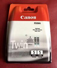 Canon Pixma PGI-5BK Black Twin Pack Ink New & Sealed