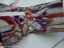 PAUL SMITH Blurred Cyclists Brown Leather Bifold Wallet Card Case Bike BNIB