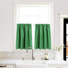 "Kitchen Blackout Window Drapes 42"" x 36"", Set of 2 Panels, Green"