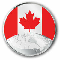 2019 This is Canada Pure Silver Coin Glow-In-The-Dark Flag and Map of Canada