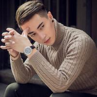 Men's Fashion Winter Warm Knit High Neck Pullover Jumper Sweater Top Turtleneck