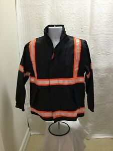 Reflective Safety Rain Jacket by Incentex Unisex Small