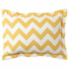 PAIR Pottery Barn PB Teen Yellow Chevron Cotton Percale Standard Pillowcase Sham