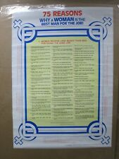 75 reasons why a woman is the man for the job 1986 Vintage Poster Inv#4580