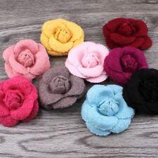 30pcs Wool Felt Rose Handmade Fabric Flower For Girls Apparel/Hair Accessories