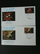 orchid x2 FDC New Caledonia 49644