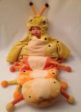 BABYSTYLE Orange Yellow Plush Caterpillar Costume Bunting 0-6m Velour HALLOWEEN