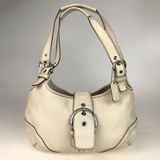 100% authentic COACH leather shoulder bag Ivory 9738 Used 1185-1dZ51