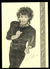 Chris Malu Autogrammkarte Original Signiert ## BC 46915