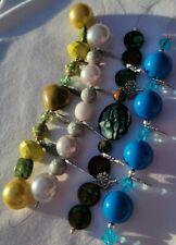 New Lot 4 strands, Lilah Ann Beads, Resin, Metal, Boho, Charms A-A881