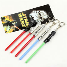 STAR WARS Master Yoda Blade Pendant Metal Key Chain Toy Gift Random Key Ring NEW