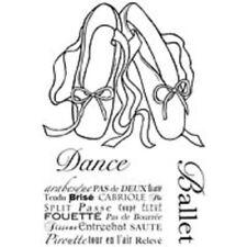 WOODWARE Clear Singles Stamps BALLET PUMPS JGS425 Dance Pas de Deux