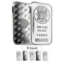 Lot of 5 - 1 oz Silver Sunshine Mint Bar .999 Fine (Sealed)