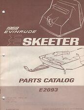 1969 EVINRUDE SKEETER E2093  P/N 260992 SNOWMOBILE PARTS MANUAL (009)