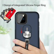 For iPhone 11 Pro Max XR SE 8 Magnetic Armor Finger Ring Holder Stand Case Cover