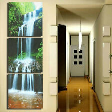 3Pcs HD Waterfall Framed Canvas Picture Print Paintings Home Wall Art  AH