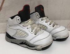 Air Jordan 5 Retro White Cement Size 4C Toddler Infant