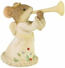 Heralding Christmas 6006562 Tails with Heart mouse mice Enesco angel trumpet Z