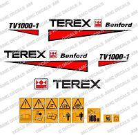 Terex Benford tv1000 Autocollants Stickers GALET