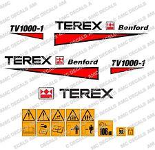 Terex Albert Benford Roller TV1000 Decalcomanie Adesivi